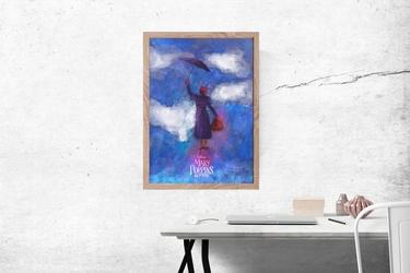 Mary poppins powraca - plakat premium wymiar do wyboru: 30x40 cm