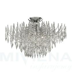 Waterfall lampa wisząca 4 chrom kryształ