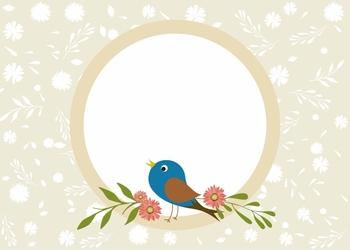 Tablica suchościeralna dla dzieci ptaszek kwiatki 401