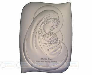 Obrazek BC6467SS3 Matka Boska z Dzieciątkiem 13,5 x 18 cm.