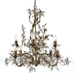 Almandite lampa wisząca 8 brązowe złoto kryształ