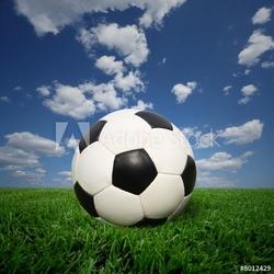 Naklejka samoprzylepna piłka nożna na trawie