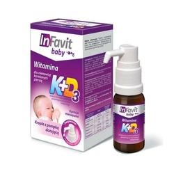 Infavit baby k + d3 krople z dozownikiem 10ml