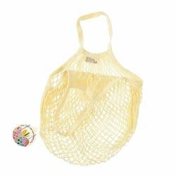 Siatkowa torba na zakupy, kremowa, Rex London