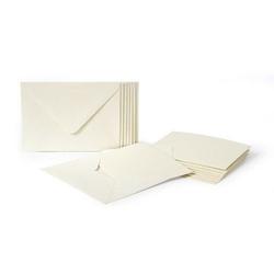 Bazy do kartek z kopertami a6 120gm2 10 szt. krem