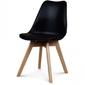 Nowoczesne krzesło design modern dsw retro czarny