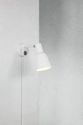 Design for the people :: lampa ścienna  kinkiet patton biała