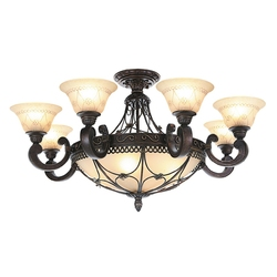 Rustykalna lampa sufitowa do dużego salonu CHIARO Country 382012812