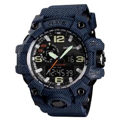 ZEGAREK MĘSKI sport SKMEI 1155 S-SHOCK denim blue - denim blue