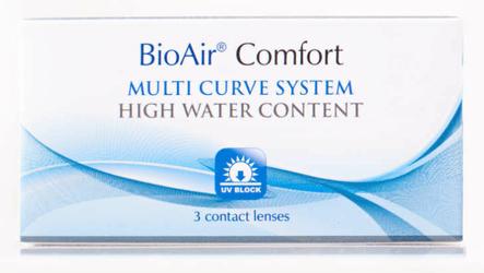 Soczewki kontaktowe BioAir Comfort 30-dniowe x 3 sztuki