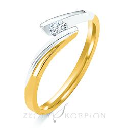 Pierścionek zaręczynowy - wzór Au-Pz-70