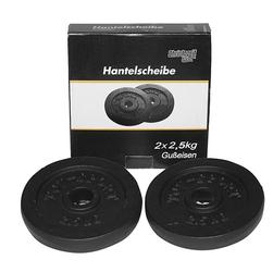 2x2,5 kgtalerze żeliwne 30 mm na gryf christopeit