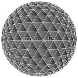 Fotoboard na płycie 3d abstrakcjonistyczny balowy tło - wektorowa ilustracja