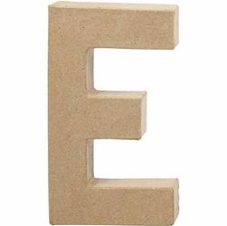 Litera z papier mache 20,5x2,5 cm - E - E