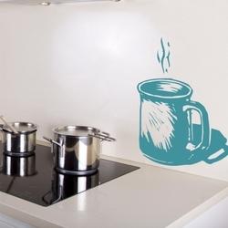 Naklejka ścienna filiżanka kawa k6