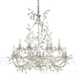 Almandite lampa wisząca 12 kremowe złoto kryształ