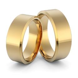 Obrączki ślubne klasyczne płaskie fazowane 7 mm