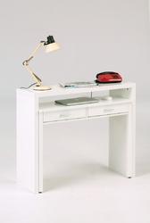 Białe wysuwane biurko console 100 cm