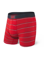 Bokserki męskie saxx vibe boxer brief red shallow stripe