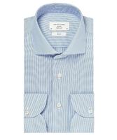 Błękitna koszula męska taliowana, slim fit travel shirt wrinkle free 45