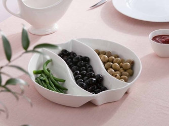 Dipówki  naczynie salaterka do dipów i przekąsek 3-dzielna porcelana altom design regular 25 cm