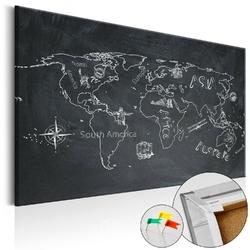 Obraz na korku - podróże kształcą mapa korkowa