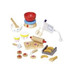 Drewniane akcesoria do pieczenia dla lalek