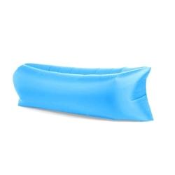 Lazy bag xxl jasny niebieski air sofa materac leżak na powietrze