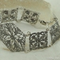 Jolan - srebrna ażurowa bransoleta