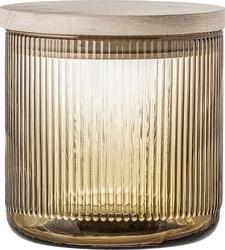 Pojemnik szklany bloomingville brązowy m
