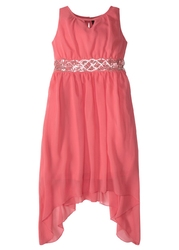 Sukienka dziewczęca z cekinami bonprix koralowy