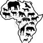 Naklejka african zwierząt