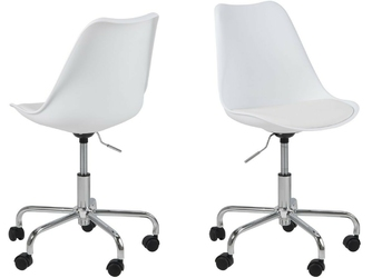 Krzesło obrotowe dento białe