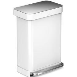 Kosz na śmieci pedałowy Liner Pocket 55L SimpleHuman biały CW2026