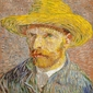 Autoportret w kapeluszu słomkowym, vincent van gogh - plakat wymiar do wyboru: 21x29,7 cm