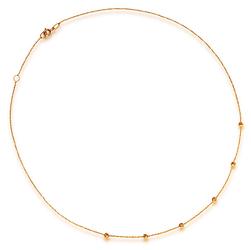 Staviori Naszyjnik 45cm. Żółte Złoto 0,585.  Długość regulowana 43cm lub 45cm.