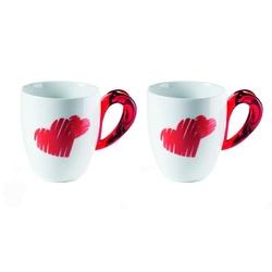 Guzzini - love - kpl. 2 kubków, czerwony - czerwony