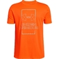 Koszulka chłopięca under armour vertical box tee - pomarańczowy