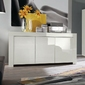 Amaretto biała włoska lakierowana komoda 3d