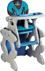 Caretero Primus Niebieskie Krzesełko do karmienia + stolik + PUZZLE
