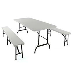 Stół ogrodowy campingowy i 2 ławki