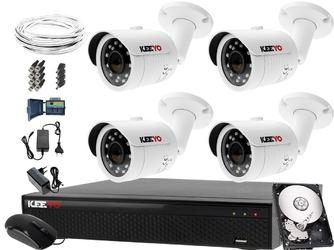 Zestaw do monitoringu: rejestrator lv-xvr84se-ii, 4x kamera lv-al30htw-s, 500gb, akces