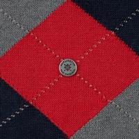 Stylowe czerwone bawełniane skarpety burlington manchester we wzór argyle rozmiar 40-46