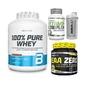 100 pure whey - 2270g + eaa zero - 350g + vitamin complex - 60caps. + shaker biotech wave - 600ml atrakcyjna cena