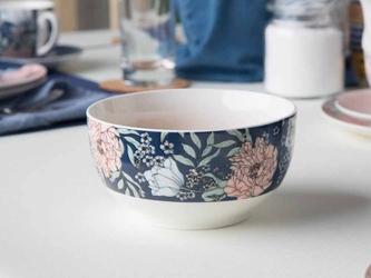 Miska  salaterka porcelanowa altom design flower jeans 13 cm granatowa
