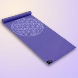 Mata do jogi yogimat basic flower of life, fioletowa 185 cm x 61 cm x 4 mm
