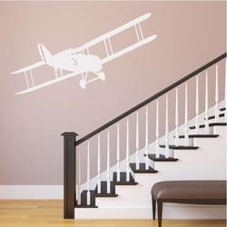 Samolot dwupłatowy szablon malarski 2305