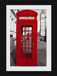 London Phonebox - obraz w ramie