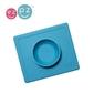 Silikonowa miseczka z podkładką 2w1 happy bowl niebieska