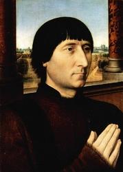 Reprodukcja portrait of willem moreel, hans memling